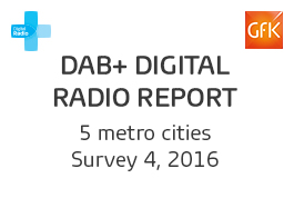 DAB+ Digital Radio Report - 4, 2016 Cover Image